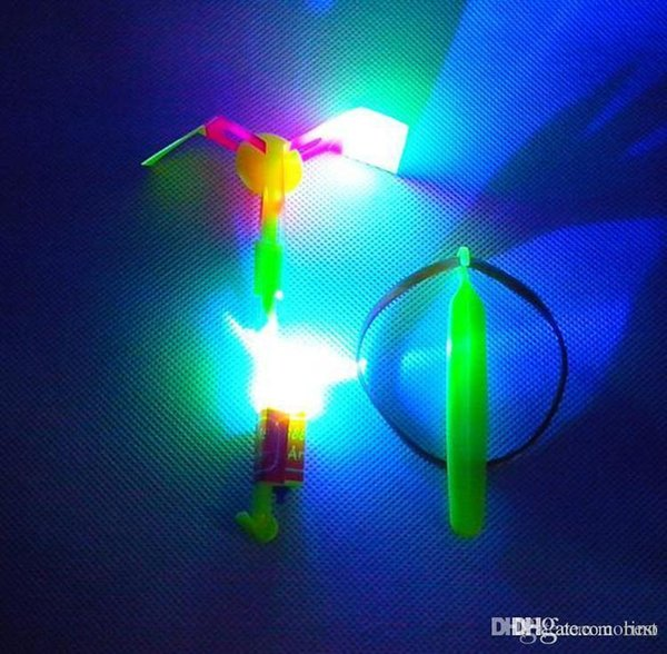LED Amazing flying arrows toys helicopter fly arrow umbrella Kids Children Toys Gifts Hot Sale Free shipping