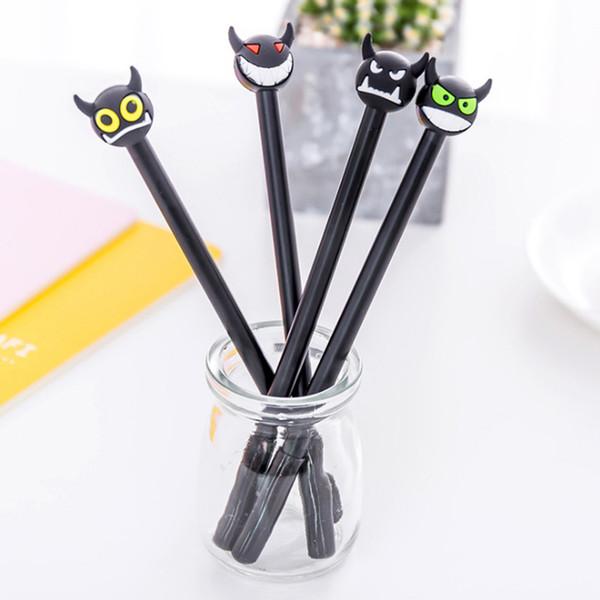 top popular Cute minotaur gel pen 0.5mm black children Writing Pen Office Eexamination Limited Office Material School Supplies wholesale Free E-PACK 2019