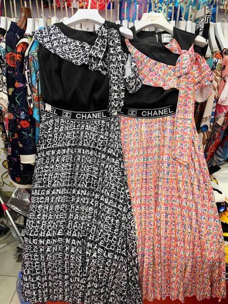Весенние и летние модели взрыва продажи женской моды диких случайных милые платья одежда дамы