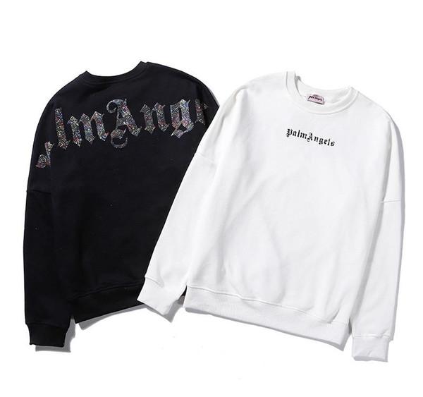 19fW marca nuevo Palm fuera letra de la impresión camiseta de puente mujer del hombre de Hip Hop de la calle de la manera ocasional Ángeles con capucha capucha pasj76cXLSUPVLONG