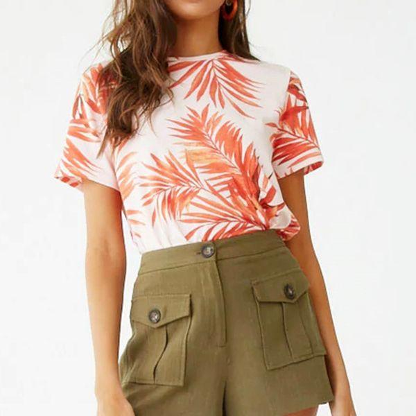 Camiseta Mujer 2019 Estampado floral Casual Verano Camiseta Playa Manga corta O Cuello Camiseta Damas Tops Harajuku Chemise Femme XXL