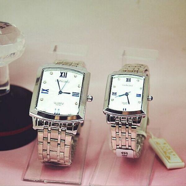 Fashion Longbo Brand Quadrante al quarzo orologio Full acciaio inossidabile JP Movimento amanti Uomo Donna regalo da polso al quarzo