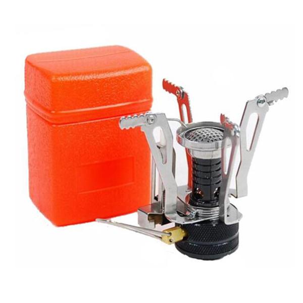 Outdoor Camping Ausrüstung Piezoelektrische Zündung Tragbare Mini-Gas Butan Alkohol Herd Gasbrenner für Camping und Wandern