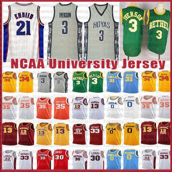 Joel 21 Embiid NCAA Men's Ben 25 Simmons Jersey Allen 3 Iverson Jimmy 23 Butler J.J. 17 Redick Markelle 20 Fultz Retro University Basketball
