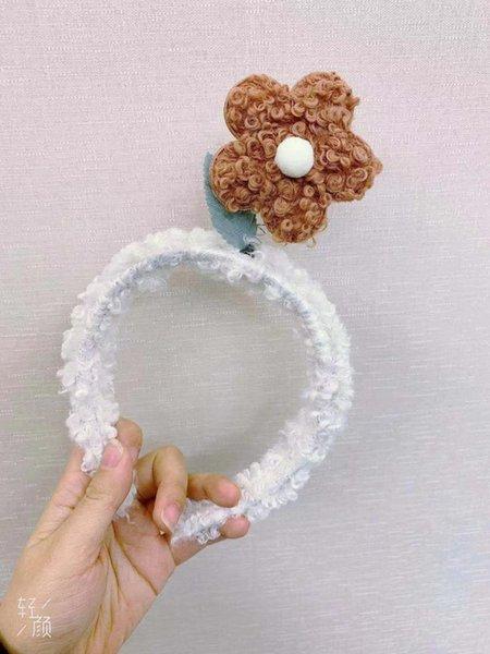 Teddy colore-bianco Fascia per capelli