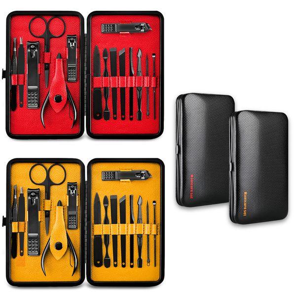 15pcs all'ingrosso manicure professionale in acciaio inox tagliaunghie set di forbici set di kit di manicure set di strumenti per unghie strumento di arte del chiodo