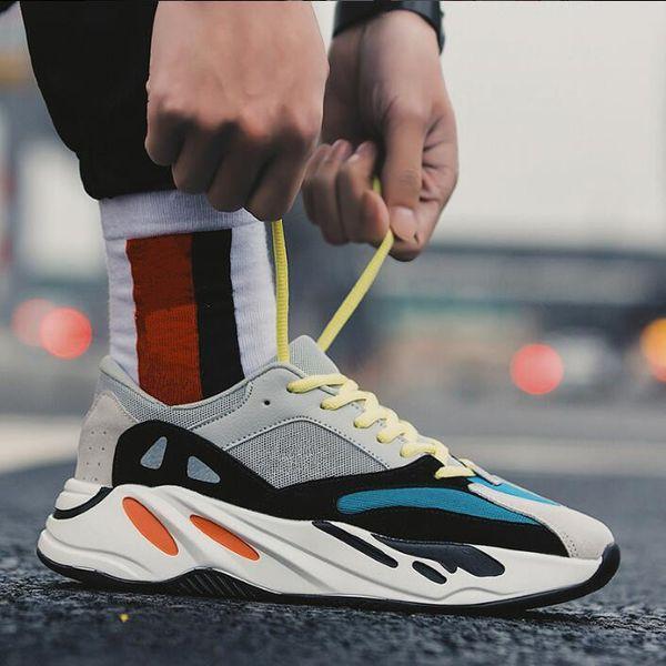 Kanye West 700 Wave Runner Running Shoes For Mens Women 700s V2 Static Sports Sneakers Mauve Solid Grey Designer Shoes Size 36-46