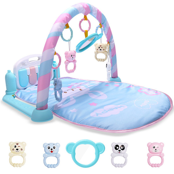 best selling Developing Mat For Newborns Kids Playmat Baby Gym Toys Educational Musical Rugs With Keyboard Frame Hanging Rattles Mirror