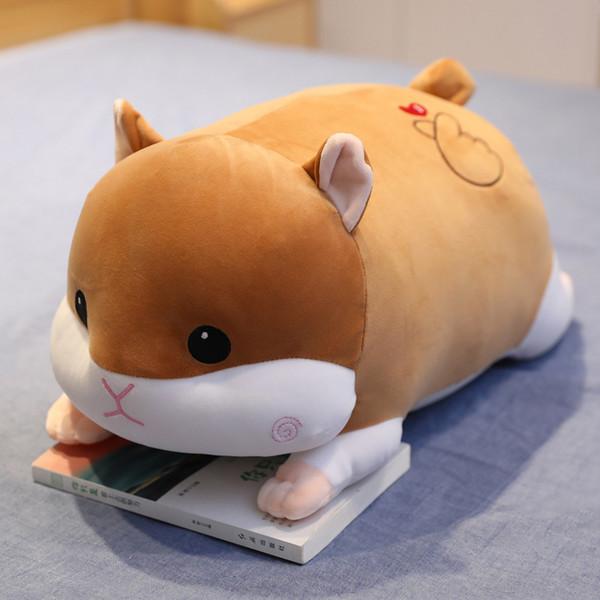 40-90cm Cartoon Cute Hamster Pig Mouse Plush Toys Soft Stuffed Kawaii Animal Pillow for Kids Children Girls Gifts Sofa Decor
