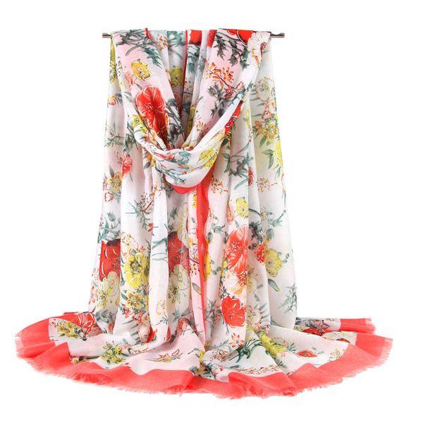 Fashion Women's Large Soft Satin Print Scarf Brand Designer Classic Silk Scarf 90 * 180cm Gift Multipurpose Shawl Scarf Free Shipping