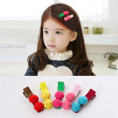 A Korean Version Of Children's Duck Mouth Hairpin Cloth Art Girls Lovely Bangs Hairpin Baby Button Hairpin