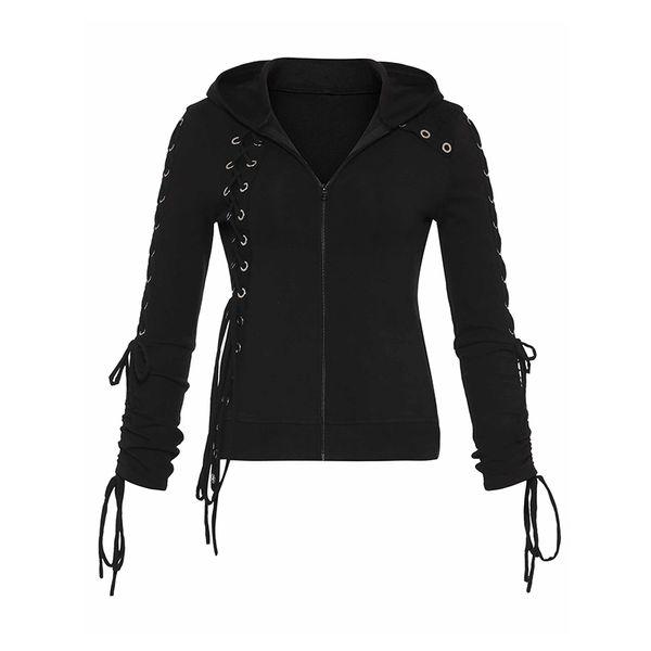 Bts Hoodies Frauen Sweatshirt Weibliche Goth Schwarz Lace Up Dunkelheit Kleidung Harajuku Sweatshirts Frau Gothic Kpop Punk Hoodie