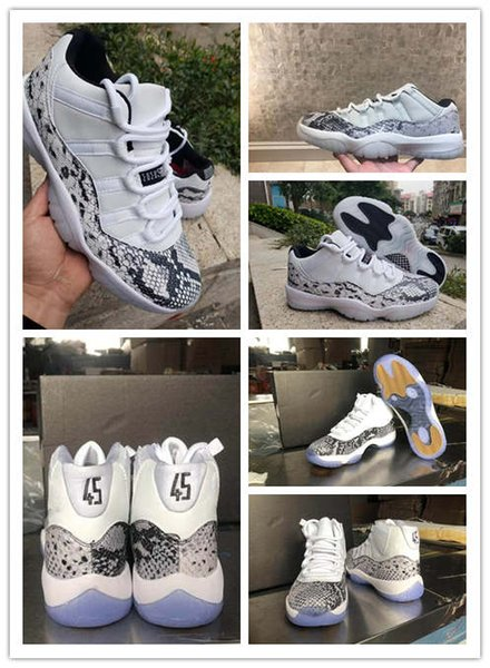 Jumpman new 11 Low High Snakeskin LE Samples in Pink and Grey WMNS Pink blue Snakeskin Retro Big Kid Mens Basketball Shoes Sports 11s shoe