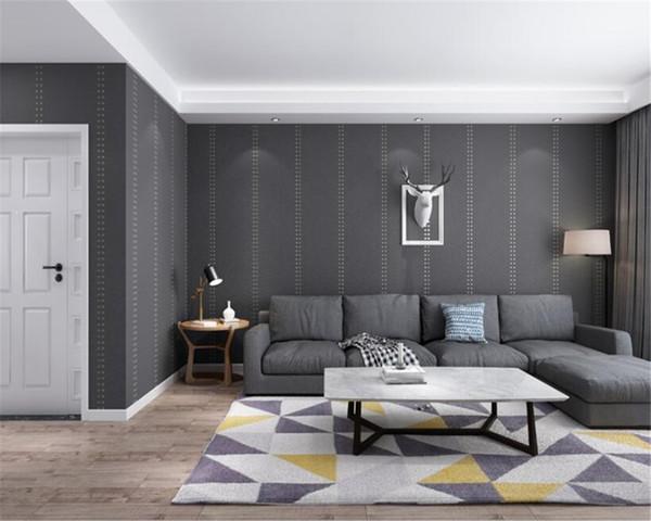 Living room 3d wallpaper for Bedroom Modern Design Living Room Wall Paper Roll Plain color 3d wallpaper