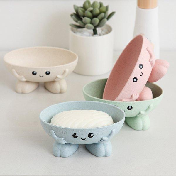 Eco-friendly Soap Box Non-slip Soap Dish Bathroom Supplies Soap Holder Cartoon Shape
