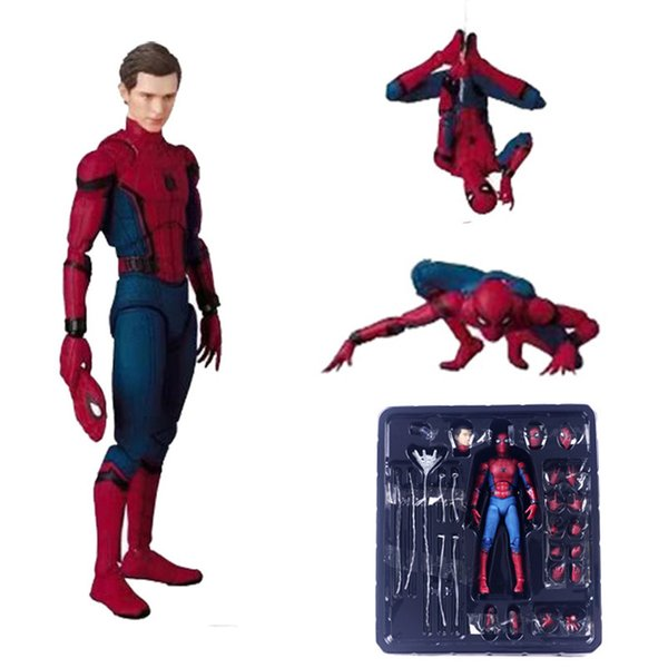18 cm PVC Spiderman Action Figure Toy Hero Spider Man Figurine Modello Anime Movie Figure Collection Toy Per Ragazzi In scatola Y19051804