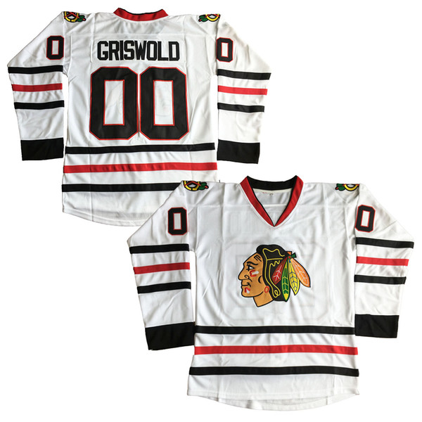 Clark Griswold #00 X-Mas Christmas Vacation Movie Hockey Jersey White Movie Jerseys Stitched Fast Free shipping