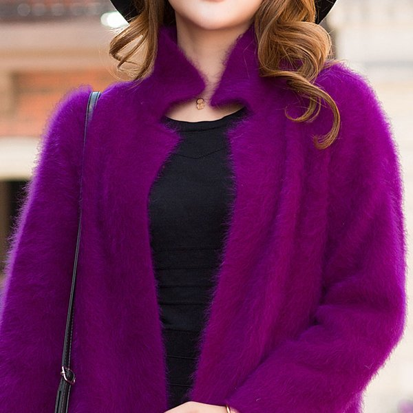 Sobretudo Real Cloak Winter Coat Abrigo Mujer 2017 Autumn And Winter New Mink Coat Long Hair Jacket Sweater Women's Cardigan