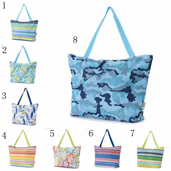 best selling Folding Shopping Bag Repeatable Waterproof Storage Bags Portable Large Capacity Picnic bags Oxford Cloth Storage bag MMA2153