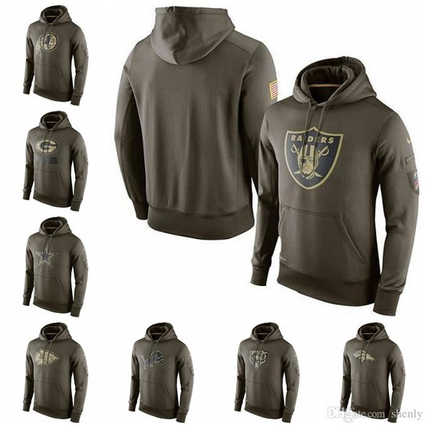 new products 35b59 893e7 2019 Mens Salute To Service Sideline Performance Hoodie Sweater Packers  Lions Bears Colts Raiders From Mars1, $34.64 | DHgate.Com