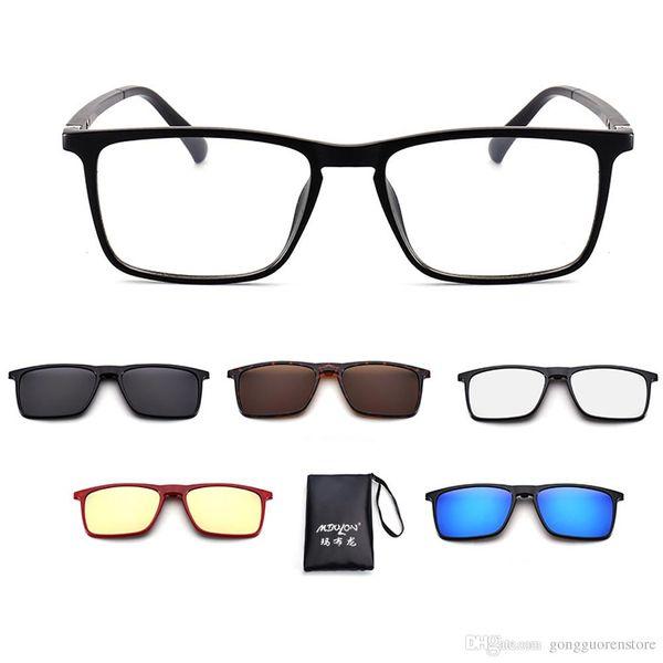 2019 NEW Fashion Sunglasses Women Men Polarized Magnetic Clip Glasses Driving Clip On Sunglasses Magnet Myopia Glasses Frame