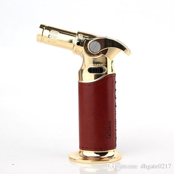DHL Strong fire Windproof Cigar Lighter Jet flame Torch Refillable Butane Gas Torch BBQ Camping Gas Lighters Soldering Brazing Welding torch