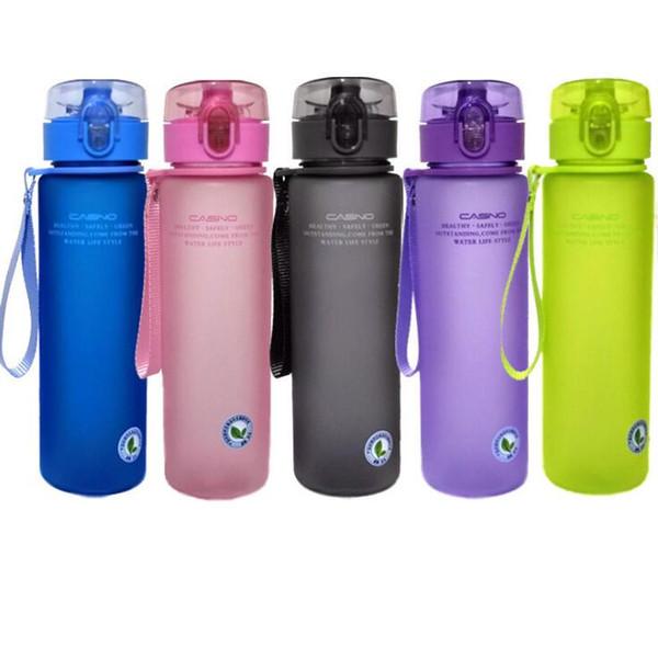 Пластиковая Спортивная Бутылка 5 Цветов 400 МЛ 560 МЛ Открытый Бутылка Воды Портативный Герметичный Фитнес-Кемпинг Бутылки OOA7080
