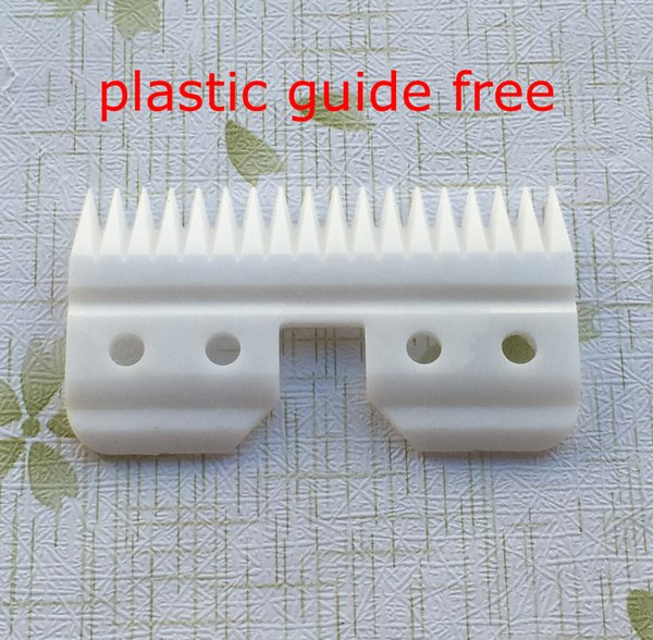 Free shipping 6pcs/lot 18teeth ceramic moving blade replacement parts with blister package plastic guide free