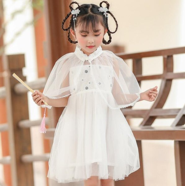Girls suit Chinese style super fairy baby Hanfu 2019 children antiques Tang suit little girl costume children's clothing wholesale