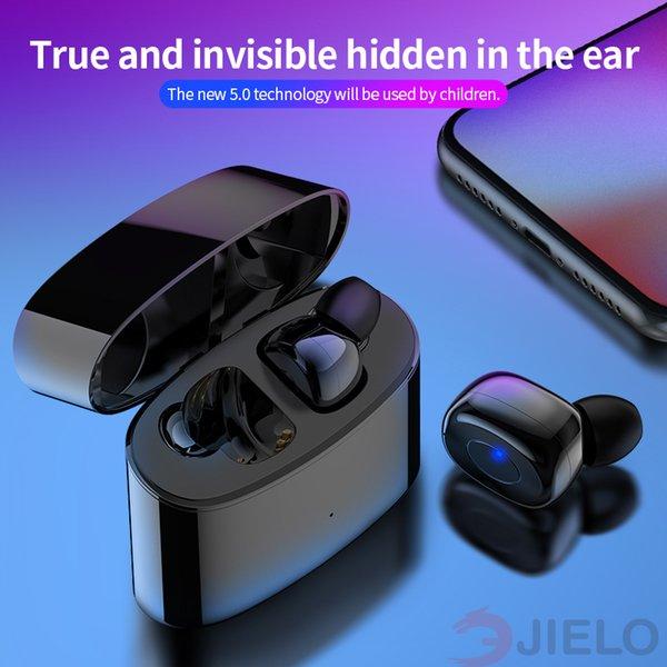 casque T6 TWS Sans Fil Bluetooth 5.0 Écouteurs ipx5 Étanche 21h Temps de Lecture Écouteurs Sans Fil Avec Micro Pour iPhone Xs Xr Huawei Moto