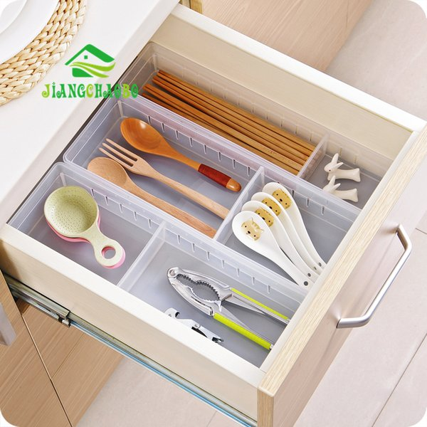 wholesale Transparent Multi Cabinet Drawers Storage Boxes Kitchen Utensils Small Boxes Free Partition Tables Storage