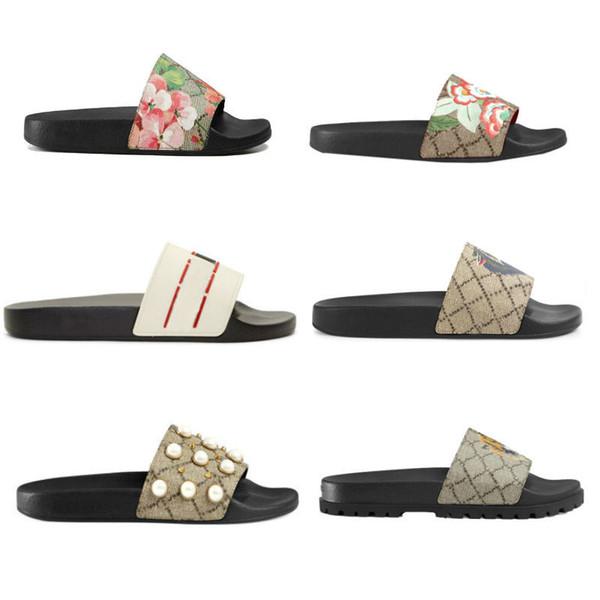 Doğru Çiçek Kutusu ile erkekler Kadınlar Sandalet Toz Torbası Ayakkabı yılan baskı Slayt Yaz Geniş Düz Sandalet Terlik