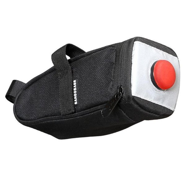 Bicycle Saddle Bag With Tail Light Pocket Waterproof Mtb Bike Rear Bag Cycling Rear Seat Tail Panniers Bike Accessories