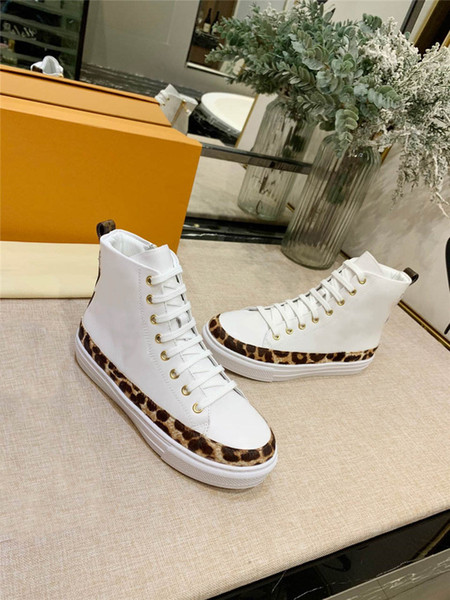 2019 tasarımcı yeni lüks retro ayakkabı çift spor rahat dana derisi ayakkabı 35 metre 45 metre için Yüksek ayakkabı