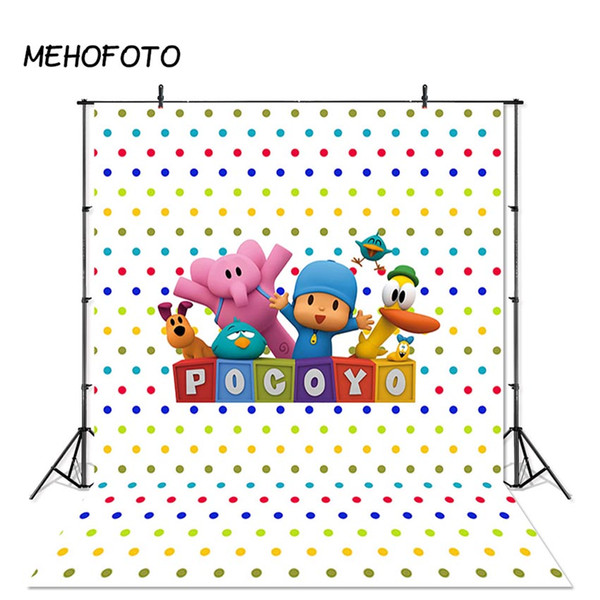 MEHOFOTO Cartoon Photography Backdrop Pocoyo Birthday Party Baby Children Photo Background Custom for Photo Booth Studio Props