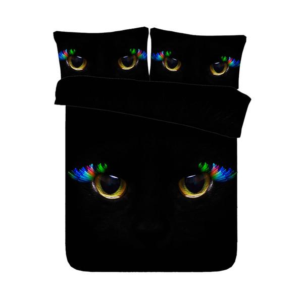 Black Cat Duvet Cover Animal Bedspread For KidsTeens Girls Soft Lightweight Microfiber 1 Soft Comforter Cover With 2 Pillow Shams