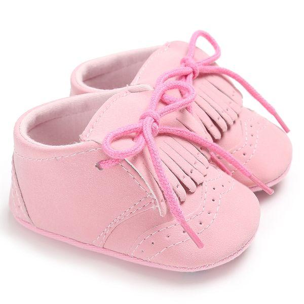 Nuevo bebé niño niño niña PU cuero borla zapatos vendaje nieve cochecito botas cuna antideslizante casual niños zapatos prewalkers