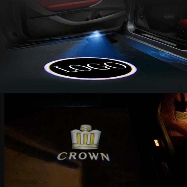 Maxup 1pair LED Ghost shadow light For toyota Projector lamp CROWN Logo Car door Laser Welcome light Car decoration Promotion