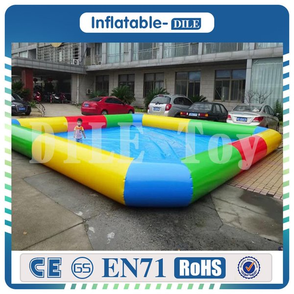 Top quality wholesale durable PVC inflatable swimming pool inflatable above ground pools on amusement park with Free Pump