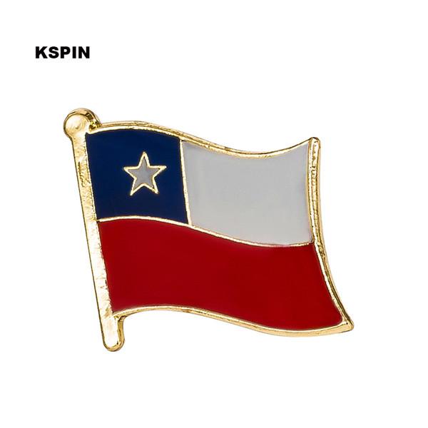 Bandeira do Chile Lapela Pin Emblema Da Bandeira Lapela Pinos Emblemas Broche KS0216