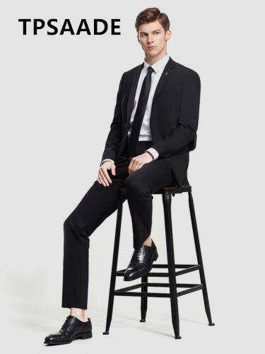 2 piezas (chaqueta + pantalón) de alta calidad de los hombres de encargo traje casual novio vestido de boda de los hombres de negocios moda blazer