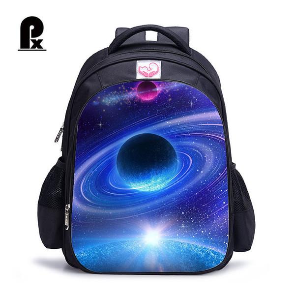 Birincil için Erkekler ve Kızlar Kadın Schoolbag mochila Infantilschool Torbaları için Çocuk Schoolbag Galaxy Uzay Desen Sırt Çantası
