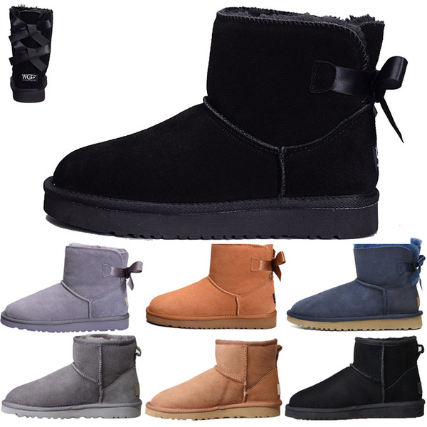 UGG di trasporto Nuovi stivali da neve classici del progettista Stivali economici delle donne di inverno Stivali di caviglia più bassi del cotone di sconto scarpe 5-10