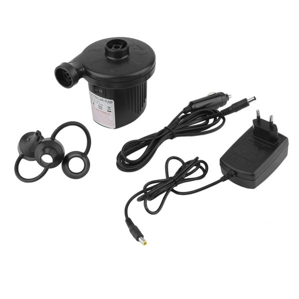 New Automobile Air Pump Cigarette Lighter DC12V 50W Black Car Electric Inflator Defator Inflatable Pump with 3 Nozzles EU Plug