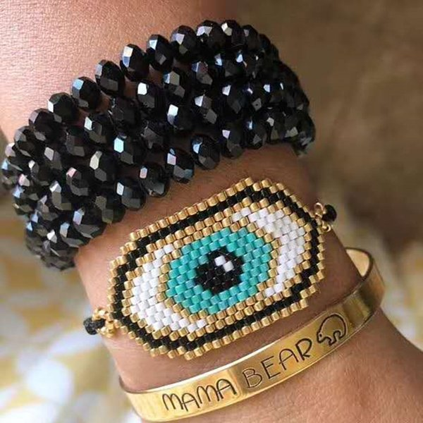 Световые аксессуары Go2boho Miyuki Bractele Bractele Bracelets Mexico Pulseras Moda Moda 2020 Браслеты для женщин Сглазные украшения для глаз ...