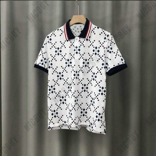 europa verão Designer Mens cor do ponto de impressão estrela marca T-shirt de abertura de cama colarinho T vermelho camisa pólo verde camiseta Casual top tee tag