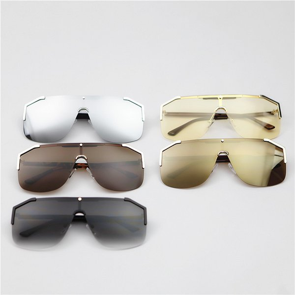 Luxury Men Millionaire Sunglasses Womens Fashion Sunglasses Brand Sunglass Half Frame Coating Mirror Lens Summer Style Superstar Sun Glass