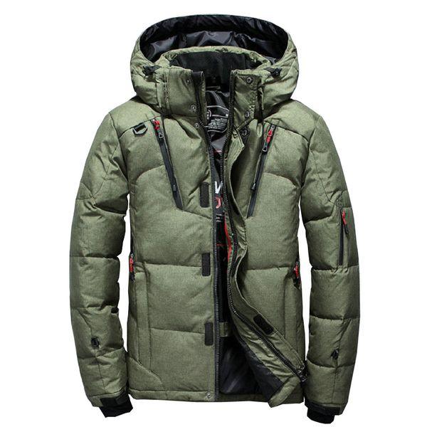 Chaqueta de invierno gruesa y cálida para hombre Parka con capucha de pato al aire libre Abrigo de invierno a prueba de viento de alta calidad Abrigo casual para hombre