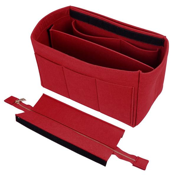 Hot Felt Makeup Bag Travel Cosmetic Handbags Organizer Felt Insert Bag Makeup Organizer Ladies Travel Luggage #253489