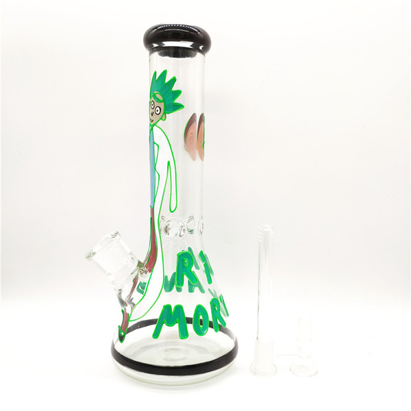 New Arrival Colored Multiple Choices Glass Bongs Water Pipes Height 32cm Thickness 7mm